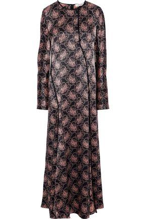DIANE VON FURSTENBERG Floral-print silk-satin maxi dress