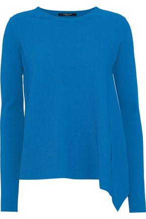 DEREK LAM Asymmetric ribbed stretch-knit sweater