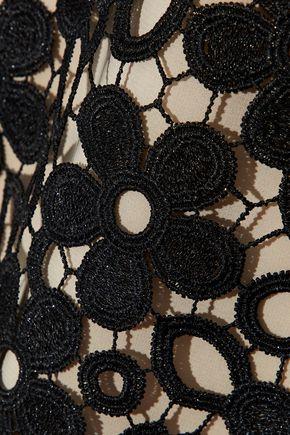 ALICE + OLIVIA Clyde guipure lace mini dress