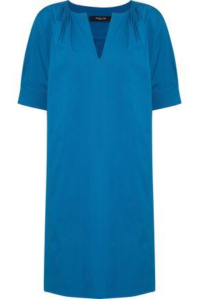 DEREK LAM Pintucked cotton-blend faille mini dress