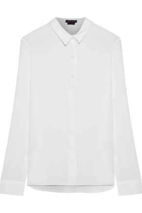 ALICE + OLIVIA Willa silk-blend shirt