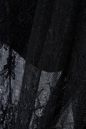 DIANE VON FURSTENBERG Belted leaver's lace halterneck jumpsuit