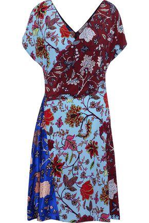 DIANE VON FURSTENBERG Wrap-effect printed silk crepe de chine mini dress