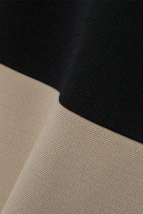 DIANE VON FURSTENBERG Two-tone stretch-knit dress