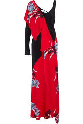 DIANE VON FURSTENBERG Ruffled printed silk-blend gown