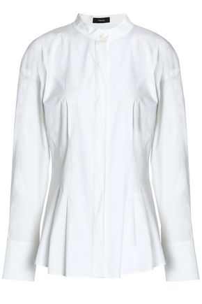 THEORY Stretch-cotton poplin shirt