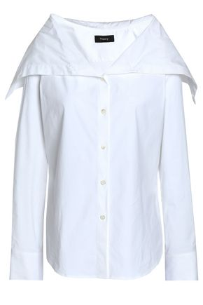 THEORY Stretch cotton-poplin shirt