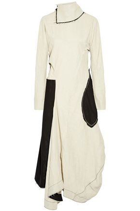 ACNE STUDIOS Dragica open-back asymmetric paneled linen-blend midi dress