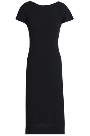 THEORY Twisted stretch-cotton jersey dress