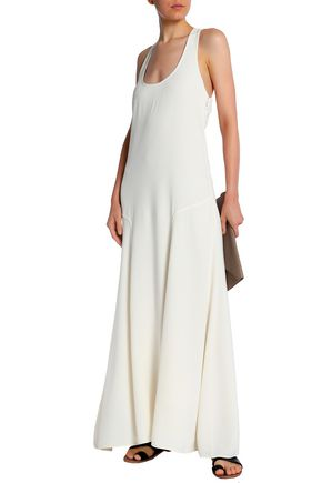 THEORY Palushaj twist--back crepe maxi dress