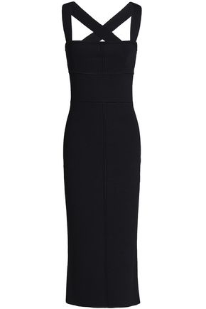 NICHOLAS Stretch-ponte midi dress