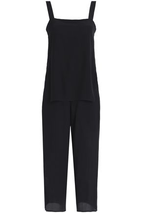 THEORY Silk crepe de chine jumpsuit