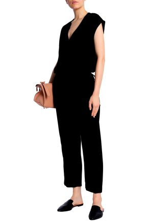 THEORY Wrap-effect crepe jumpsuit