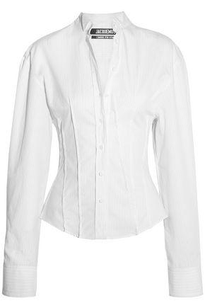 JACQUEMUS La Chemise Pinces pinstriped cotton-poplin shirt