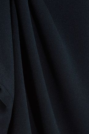 TIBI One-shoulder ruched crepe top