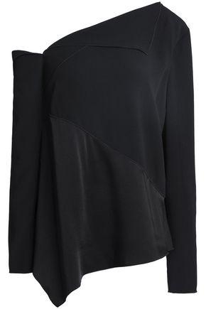 PROENZA SCHOULER One-shoulder satin-crepe top