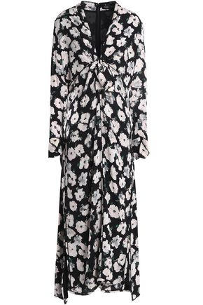 PROENZA SCHOULER Knotted floral-print silk-georgette midi dress