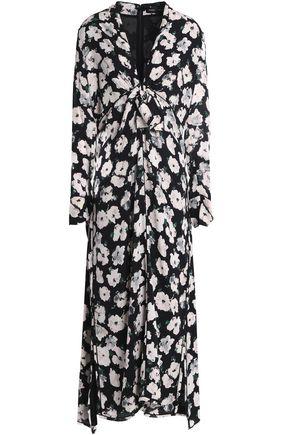 PROENZA SCHOULER Knotted floral-print silk-georgette midi dress