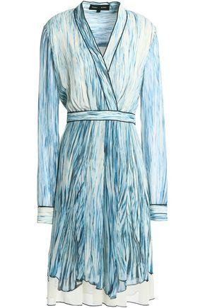 PROENZA SCHOULER Wrap-effect printed silk-georgette dress