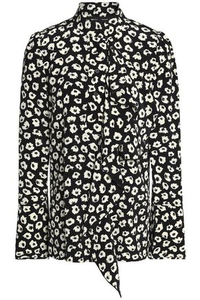 PROENZA SCHOULER Ruffled printed silk crepe de chine blouse