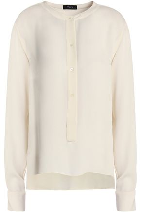 THEORY Silk crepe de chine blouse