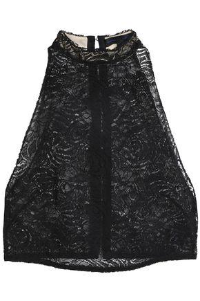 PROENZA SCHOULER Cropped cotton-blend lace top