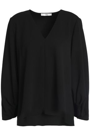 TIBI Elasticated cuffs puffed sleeves top