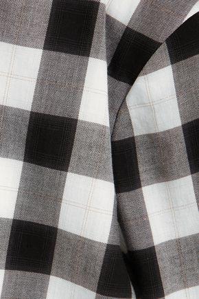 TIBI Checked cotton-blend turtleneck top