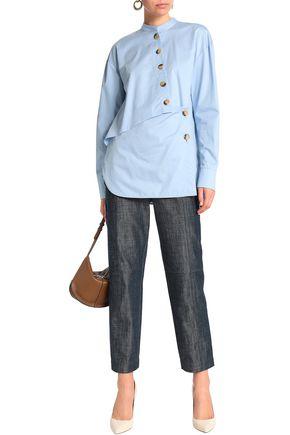 3f695679785c TIBI Button-detailed cotton-poplin tunic