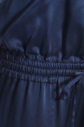 THEORY Gathered silk-satin jumpsuit