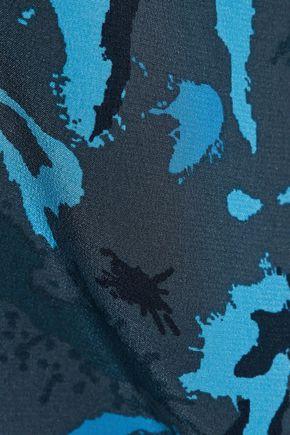 L'AGENCE Jane printed silk camisole