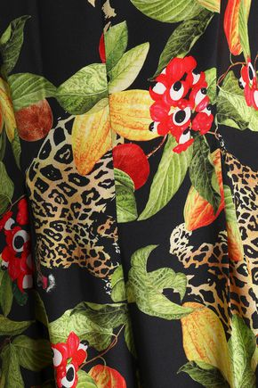 ISOLDA Madeleine cropped printed silk jumpsuit