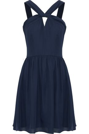L'AGENCE Valetta cutout silk-chiffon mini dress