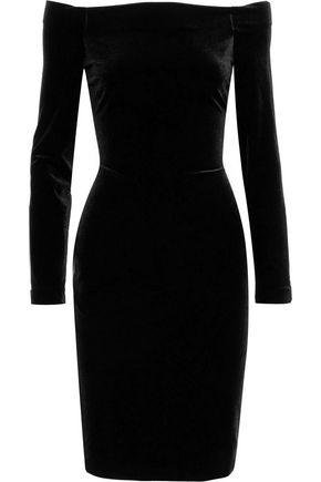L'AGENCE Off-the-shoulder velvet dress