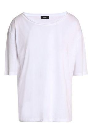THEORY Mélange Pima cotton and modal-blend jersey T-shirt