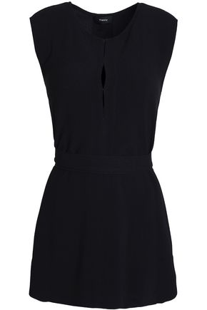 THEORY Belted crepe top