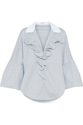TOME Ruffle-trimmed cotton blouse
