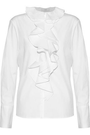 TOME Ruffle-trimmed cotton-poplin blouse