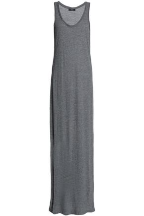 THEORY Mélange Pima cotton and modal-blend jersey maxi dress