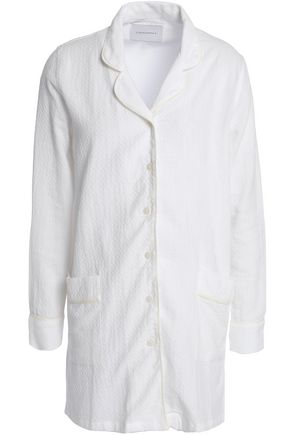 SOLID & STRIPED Cotton-blend jacquard shirt