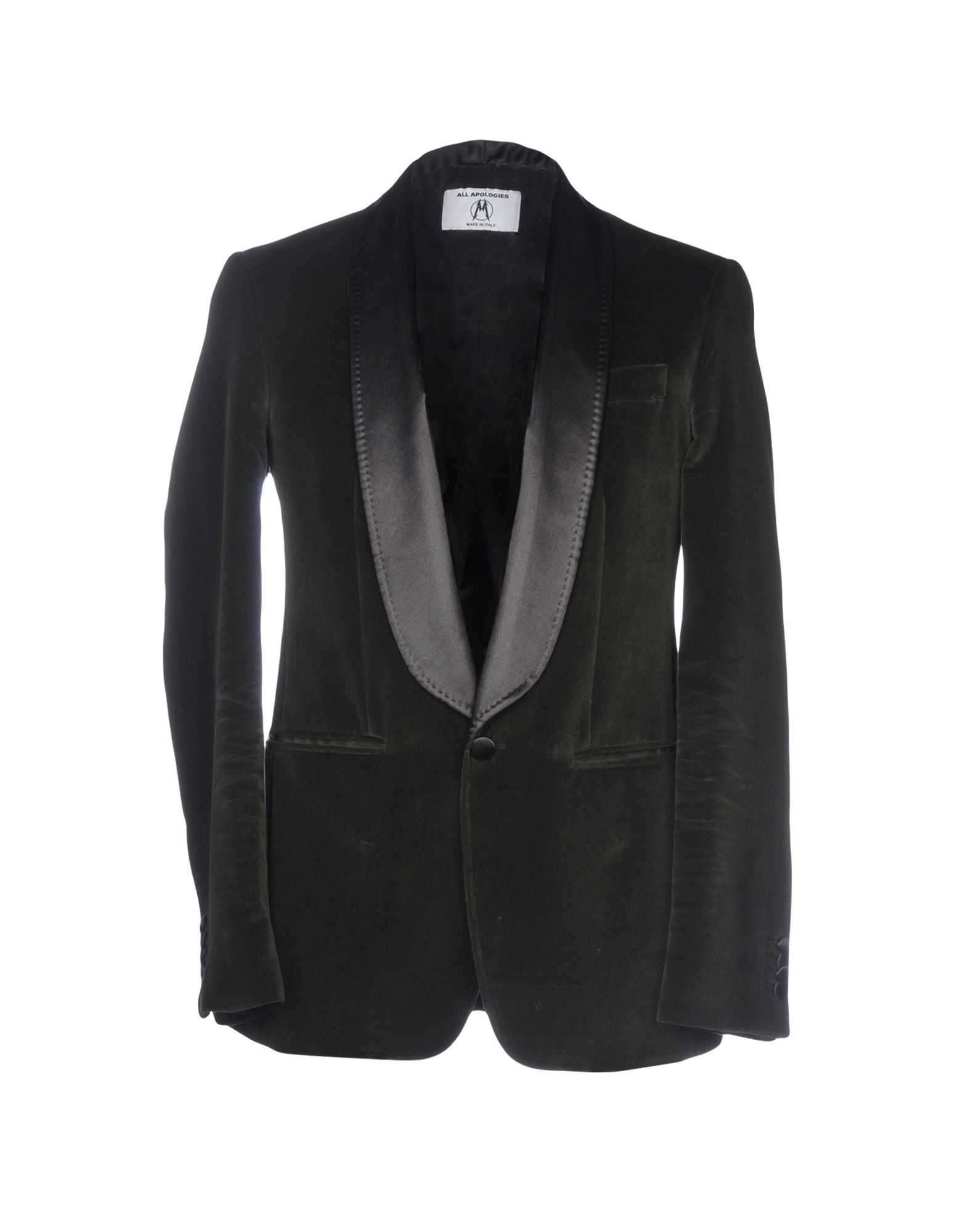 ALL APOLOGIES Blazer in Military Green
