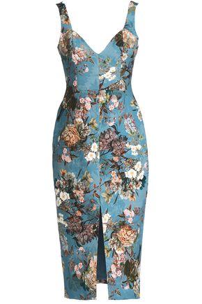 NICHOLAS Arielle floral-print cotton-blend jacquard dress