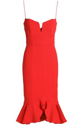 NICHOLAS Ruffle-trimmed stretch-cady dress