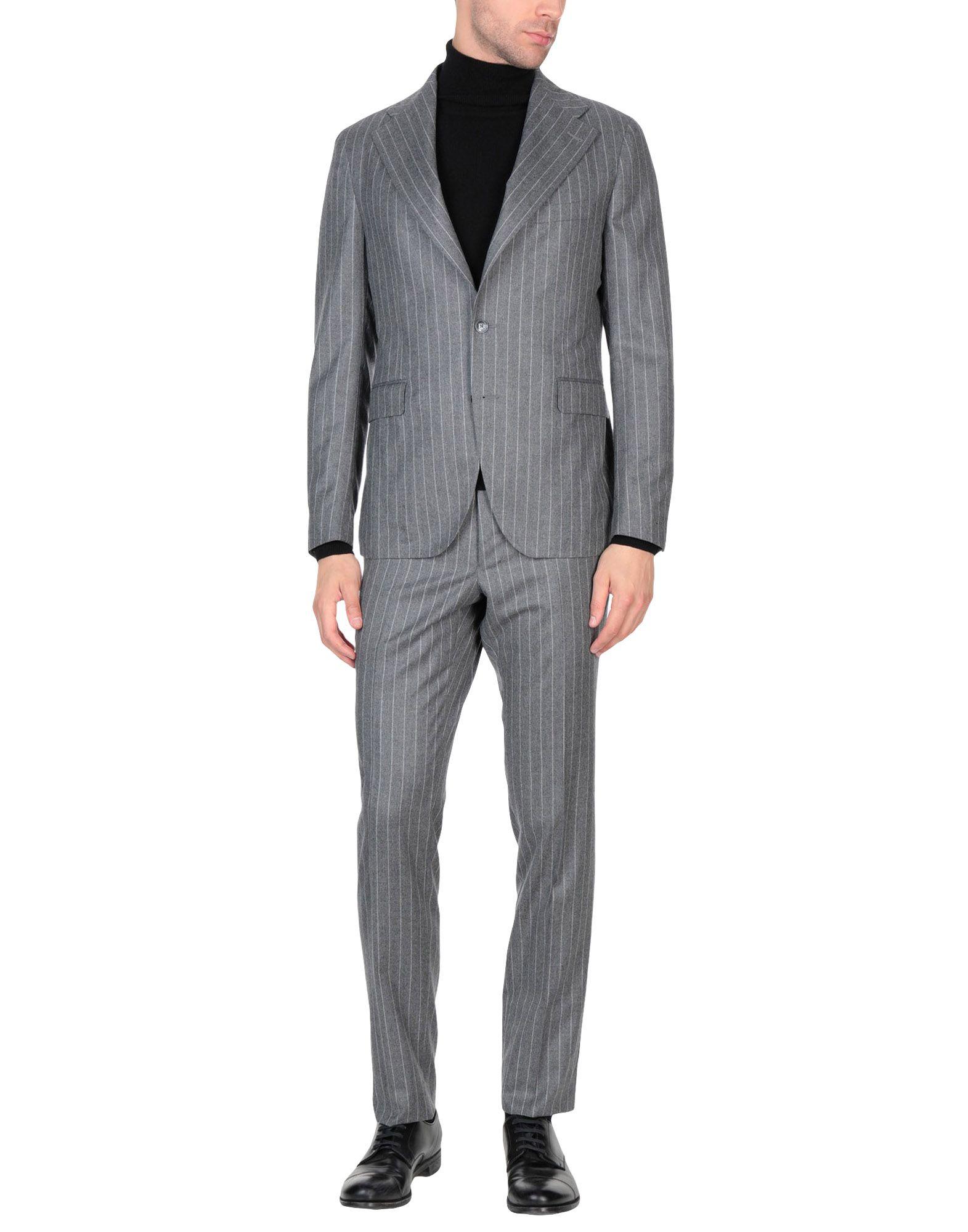 《送料無料》TAGLIATORE メンズ スーツ グレー 54 スーパー120 ウール 100%