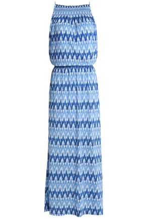 SOFT JOIE Printed cotton and modal-blend jersey maxi dress