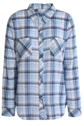 SOFT JOIE Gingham cotton-blend shirt