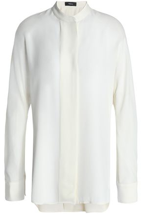 THEORY Silk crepe de chine shirt