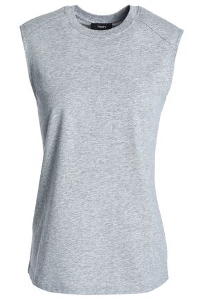 THEORY Mélange cotton-jersey tank