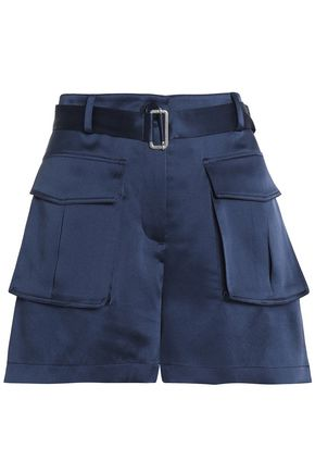THEORY Sailk-satin shorts