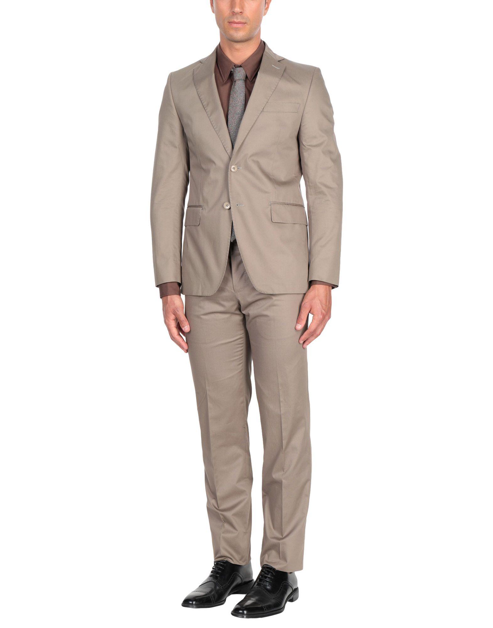 《送料無料》PAOLONI メンズ スーツ サンド 48 コットン 100%